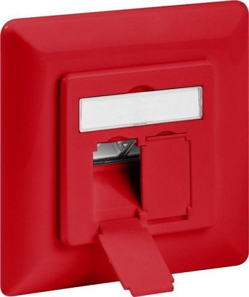 CAT 6a Unterputzdose 2xRJ45, geschirmt, rot